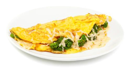 Broccoli and Cheddar Omelette