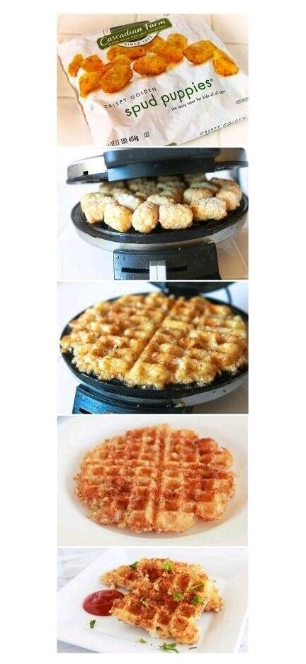 Hashbrown waffles