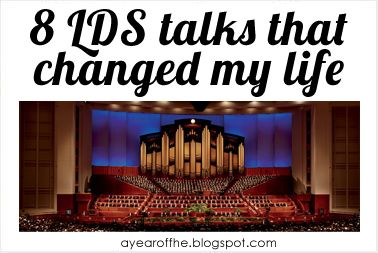 A Year of FHE: 8 LDS Talks that Changed My Life {I just finished listening to all of them and they truly are life-changing and beautiful. -HK}