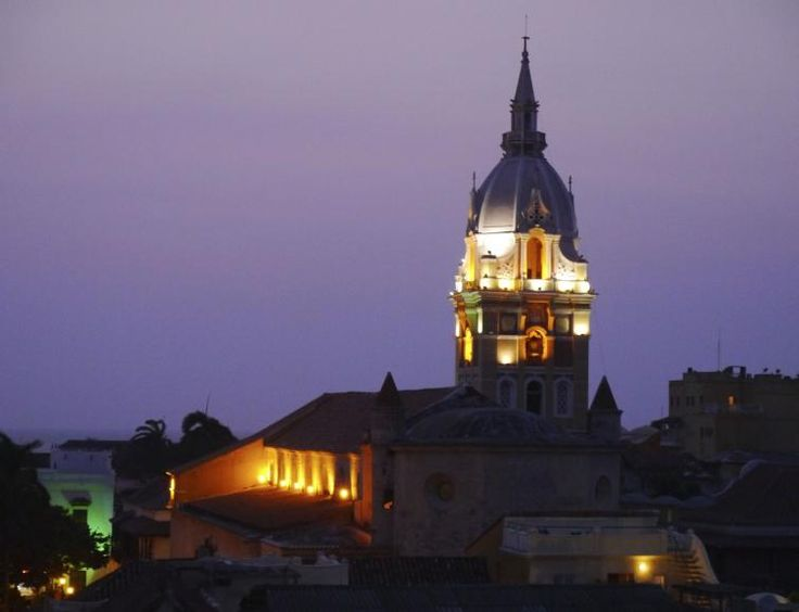 cartagena colombia cathedral night - Google Search