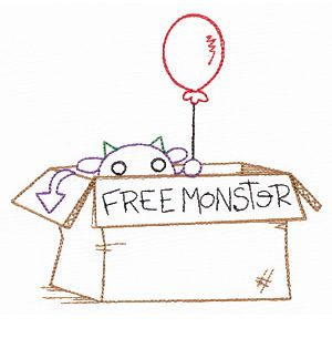 Free Monster embroidery pattern. I love this web site. Urban Threads is an awesome place to get unusual embroidery patterns. This isn't your Grandma's embroidery!