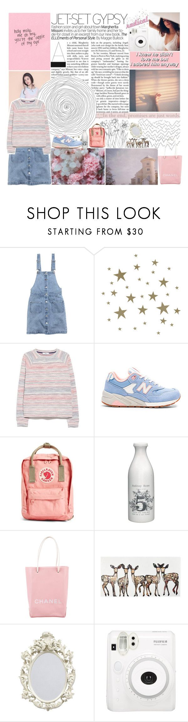 """""""Sunset lover..."""" by cassie-010603 ❤ liked on Polyvore featuring H&M, ferm LIVING, MANGO, New Balance, Fjällräven, GreenGate, Chanel, WALL, Fuji and KEEP ME"""