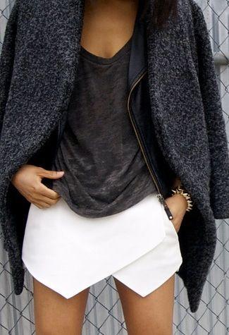 Skort, Origami skirt and Zara on Pinterest - photo#26