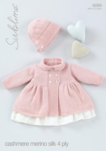 Baby Girls Peter Pan Collared Coat with Bonnet in Sublime Baby Cashmer – Deramores