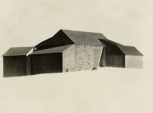 Charles Sheeler: Pennsylvania Farmhouse, 1922
