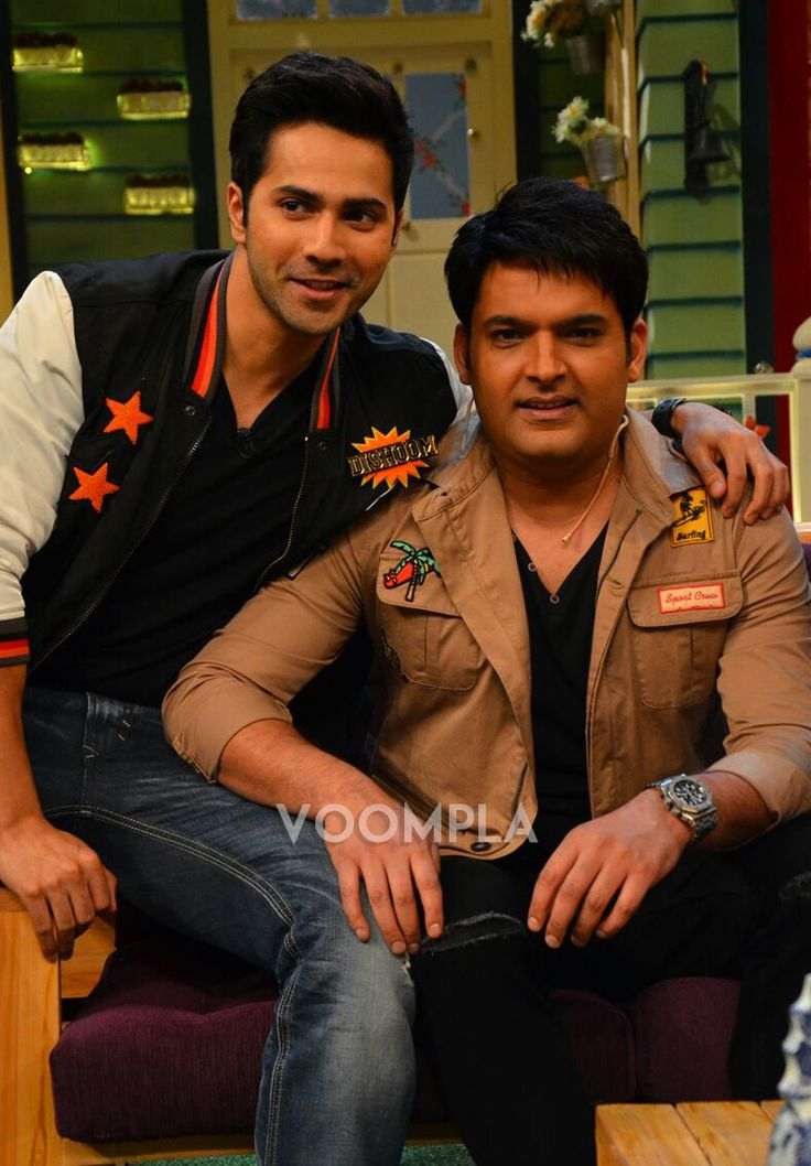 Varun Dhawan with darling of Indian television Kapil Sharma. via Voompla.com