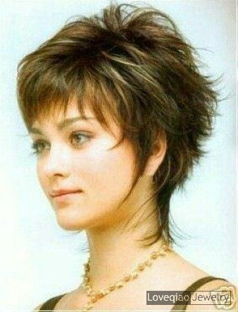 Short Shag Hairstyles for Round Faces