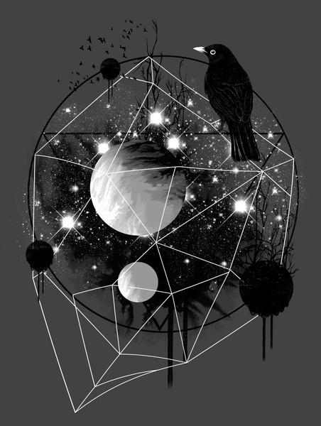 Cruel and Beautiful World by Dan Elijah G. Fajardo: Picture-Black Posters, Dan Elijah, Illustration, Art Prints, Posters Design, Start Posts, Beautiful World, Crows, Black
