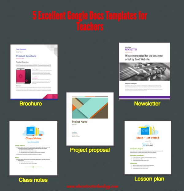 5 Excellent Google Docs Templates for Teachers