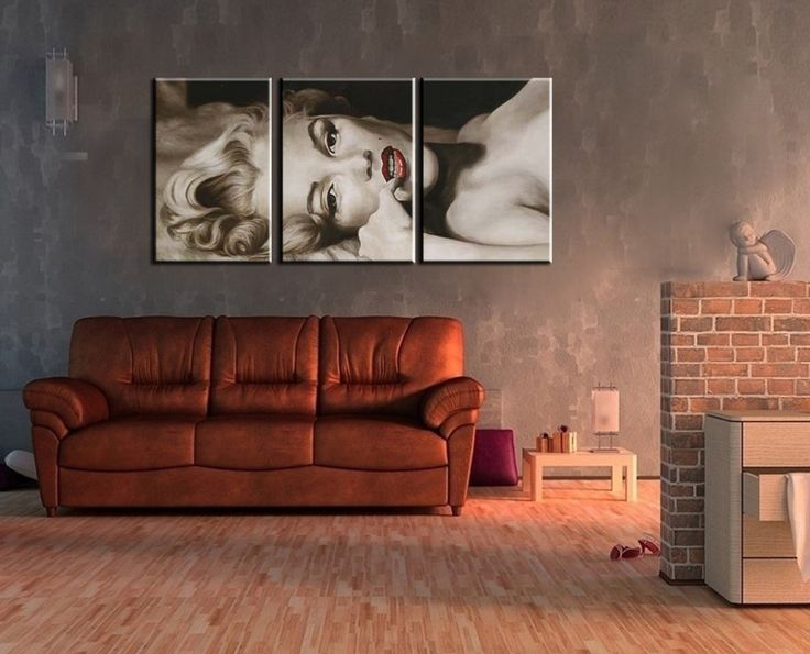 Aliexpress.com : Buy 3 piece abstract modern handmade black white marilyn monroe canvas art oil painting on canvas for bedroom decoration living room from Reliable painting supplies art suppliers on Art Blue River
