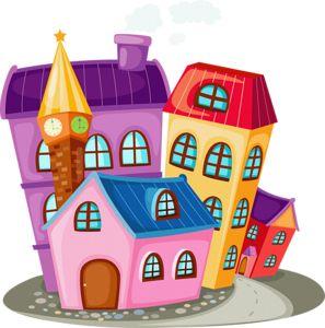 Сказочные домики | Домики, Картинки, Детские рисунки