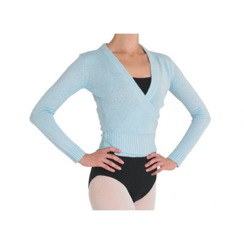 Bloch Darlene Cross over  Ladies Cross over knit cardigan  Fabric: 100% acrylic cashmere like yarn  Colours: Ballet pink , Light Blue, Burgundy, Black  Price: 23.20€