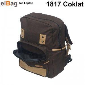 Tas Sekolah Ransel Kode 1817 Coklat adalah tas sekolah remaja yang bisa membawa laptop maksimal 14 inch. bahannya menggunakan kanvas warna coklat tua dan variasi suede warna khaki.