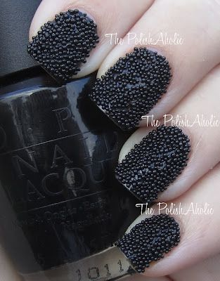 Caviar Nails for Less    http://www.thepolishaholic.com/2012/03/look-for-less-ciates-caviar-manicure.html