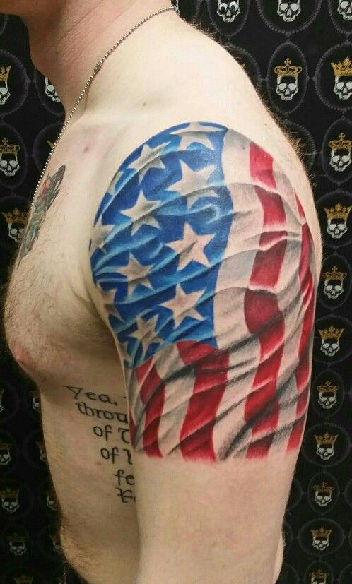 3d u s flag tattoo artist unknown tattoo american for American flag tattoos pictures