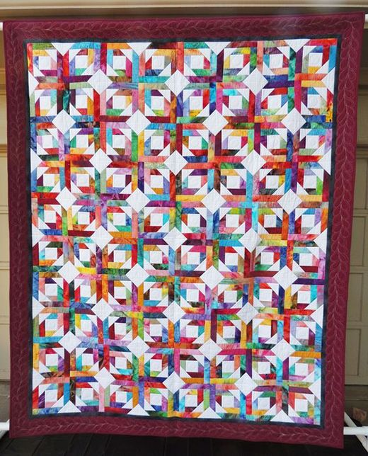 Pineapple Blossom Quilt (Quilting Land) | Scrappy quilt ...