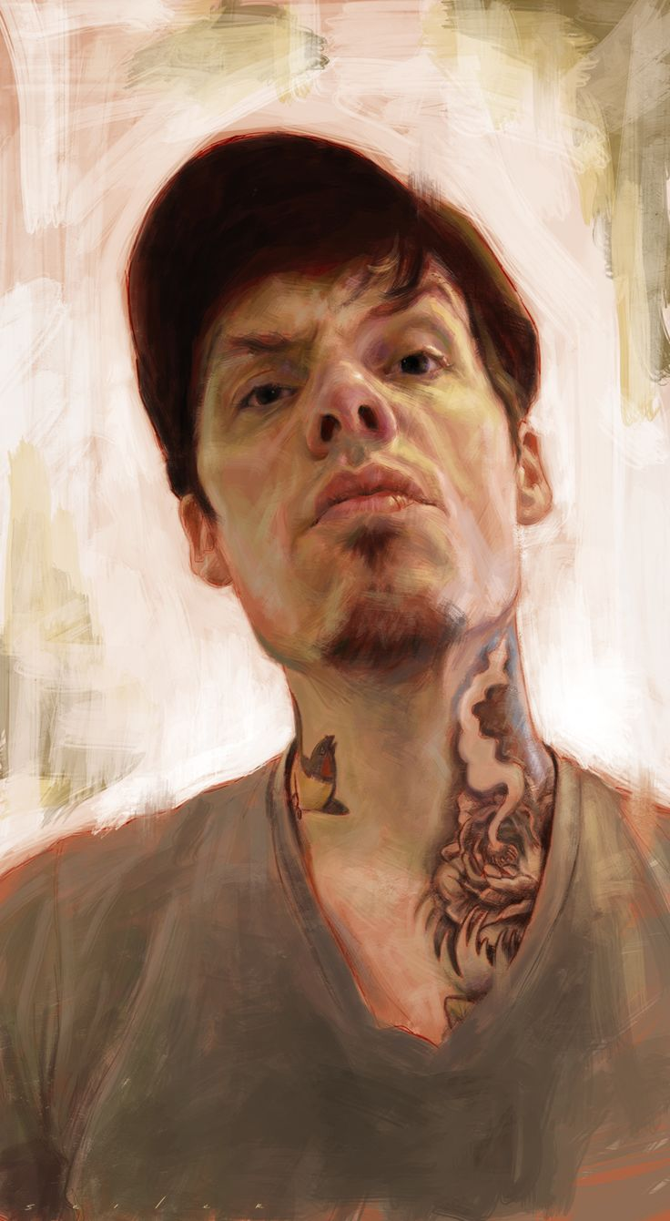 """Self-portrait"" - Jason Seiler, 2011 {contemporary figurative character artist male head face portrait digital painting} jasonseiler.com"