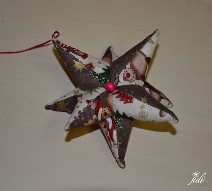 christmas star - patchwork, hviezdicka-vypchata