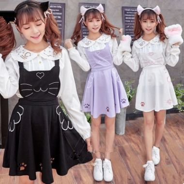 98 best cloth fold images on pinterest character design manga lovely cat braces skirt se9492 fandeluxe Image collections