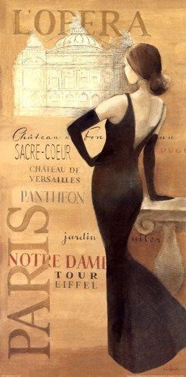 Ladies of Paris II by Albena Hristova art print