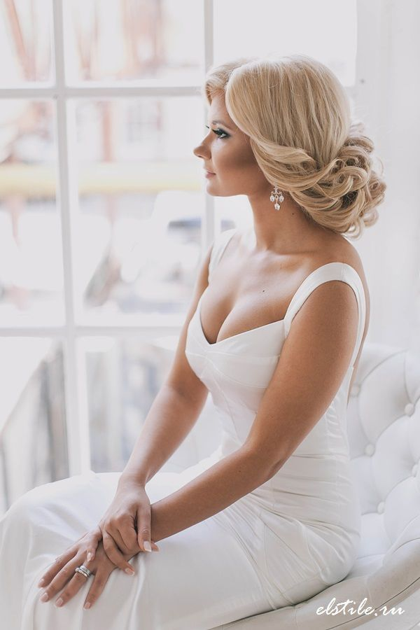 low wedding updo hair style