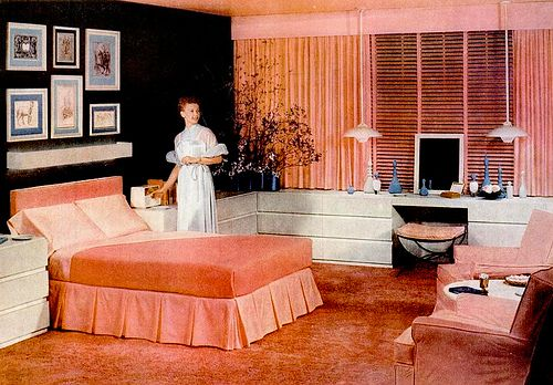 Bedroom (1955) by peppermint kiss kiss, via Flickr