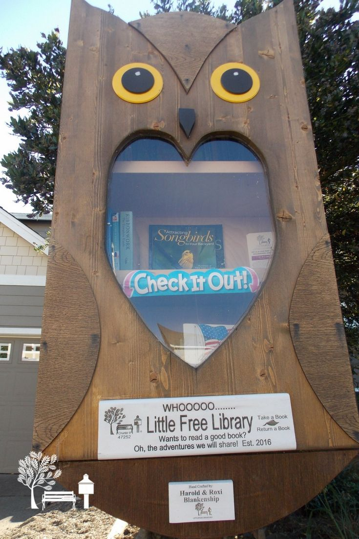 WHOOOO loves books? The Evans Family.  who stewards this Little Free Library in McMinnville, OR does!