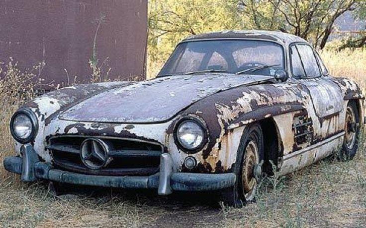 Mercedes 300SL barn find . Rusted Classics & Barn Finds
