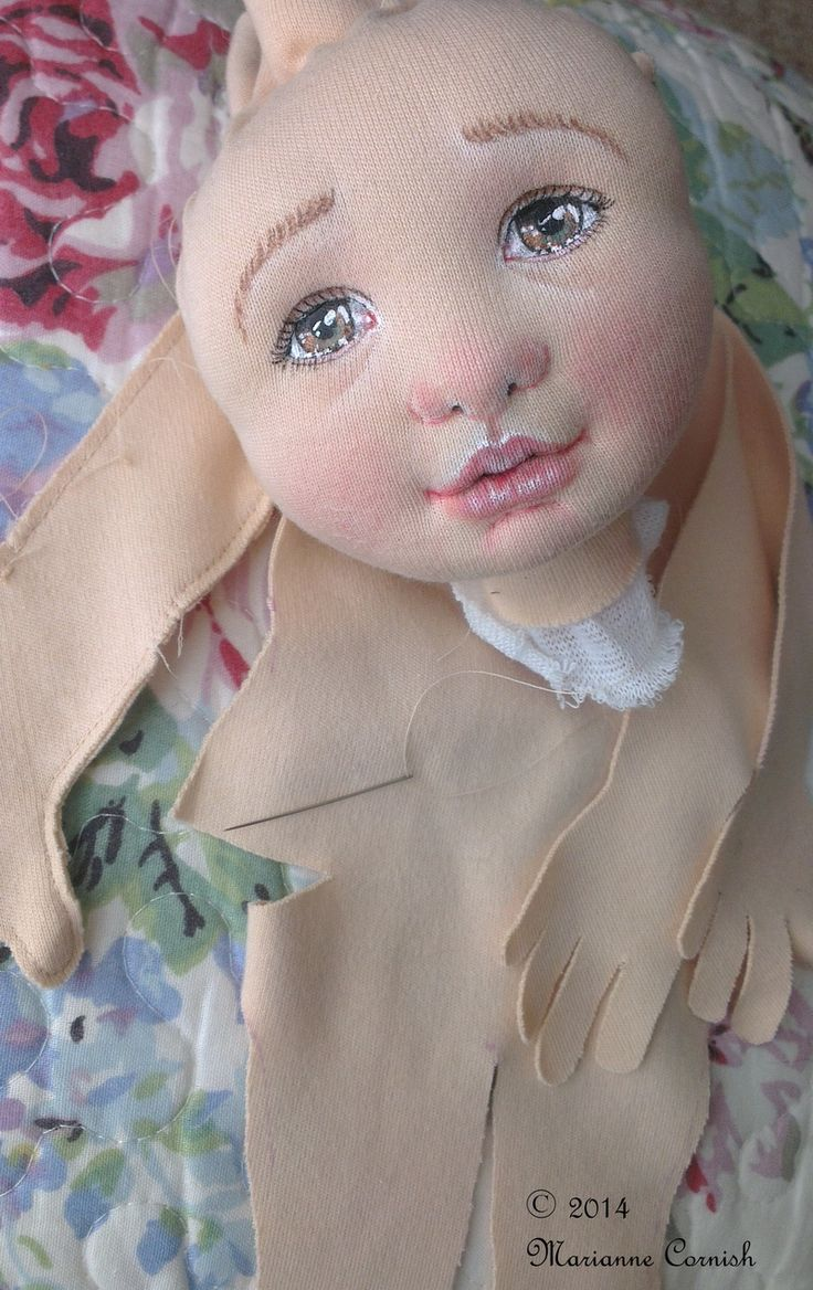 Textile Art Doll (work in progress) by Marianne Cornish