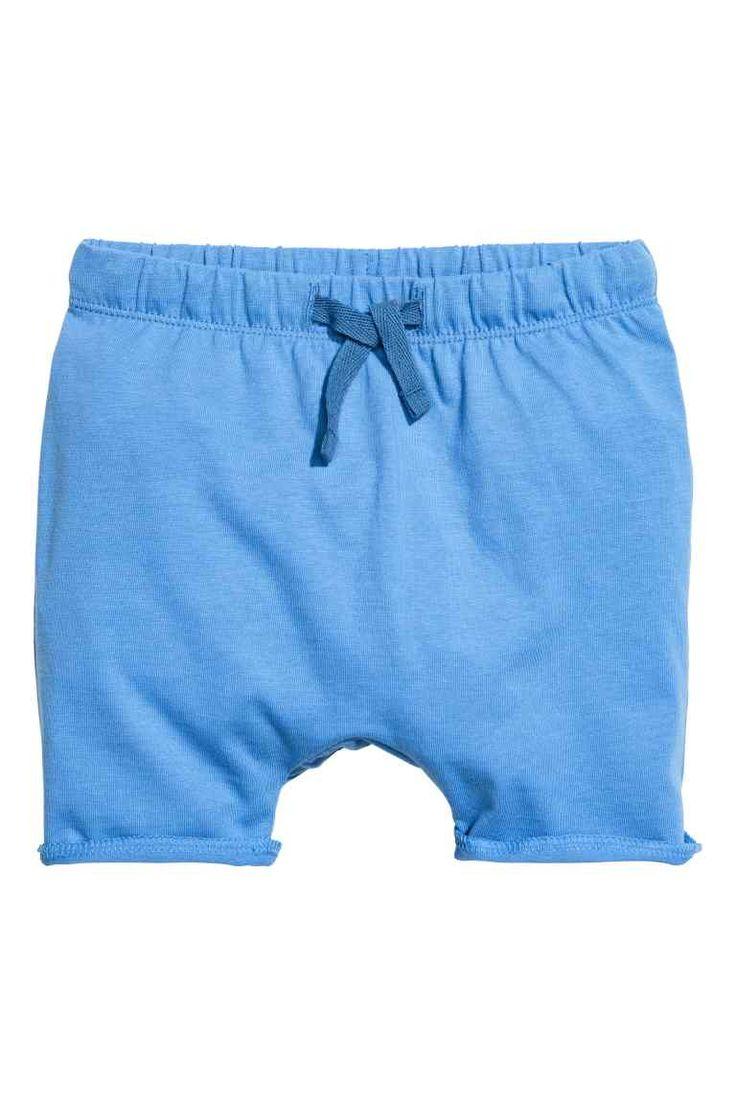 Džersejové šortky - modrá - DETI   H&M SK 1