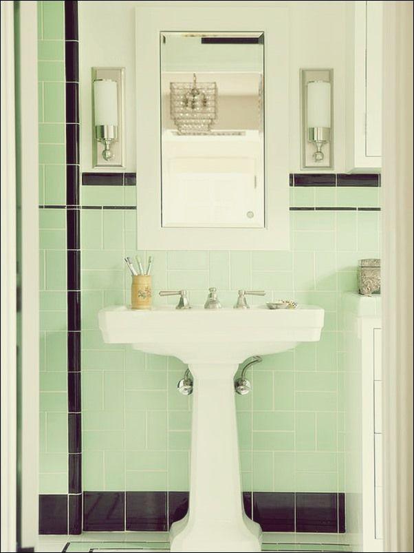 Verwendung Von Grun In Badezimmerdesigns Bad Deko Alte Bader Art Deco Badezimmer Vintage Badezimmer