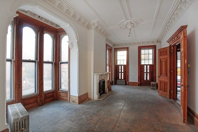 Brooklyn new york brownstone condo interior crown molding Brooklyn brownstone interior
