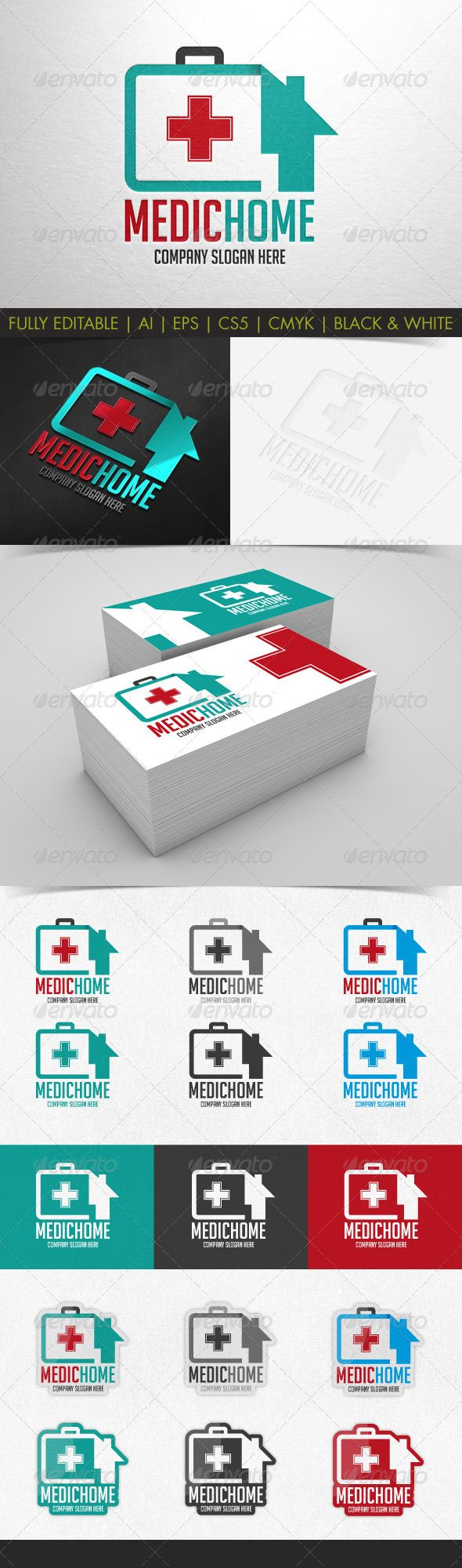 MedicHome logo template