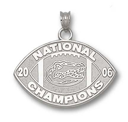 Florida Gators 1/2 Sterling Silver 2006 Bowl Championship Series Logo on Nickel Plated Key Chain: Enjoy… #Sport #Football #Rugby #IceHockey