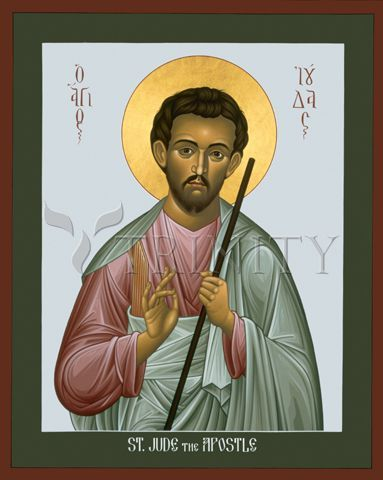 "St. Jude the Apostle | Catholic Christian Religious Art - Icon by Br. Robert Lentz, OFM - From your Trinity Stores crew, ""St. Jude please pray for us!"""