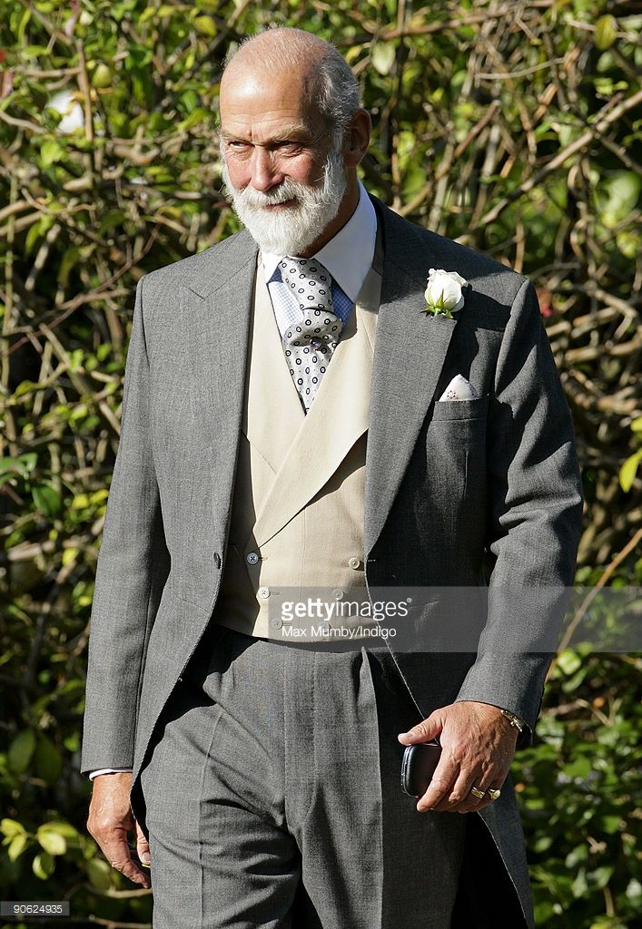 HRH Prince Michael of Kent leaves the home of Lady Annabel Goldsmith to attend the wedding of his son Lord Frederick (Freddie) Windsor to Sophie Winkleman at Hampton Court Palace on September 12, 2009 in London, England.
