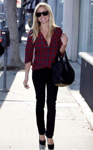 Kristin Cavallari: Why can%u2019t I look this cute in a plaid shirt! love the outfit