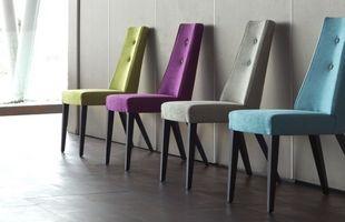 chaise park lujosa couleur tissu deco