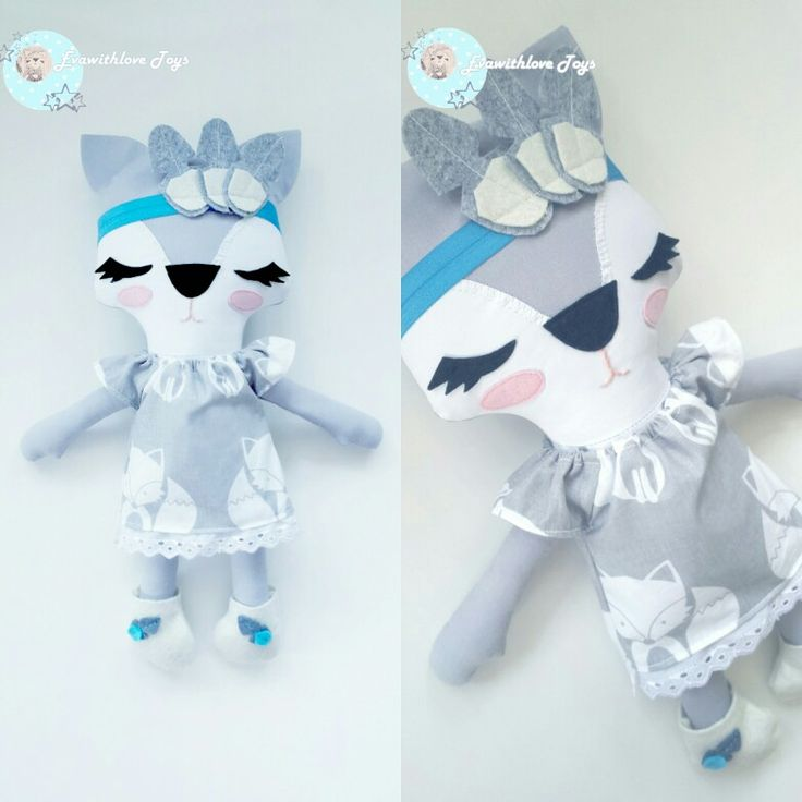 Fox Gray http://vk.com/evawithlovetoys #fox #foxtoy #animaltoys
