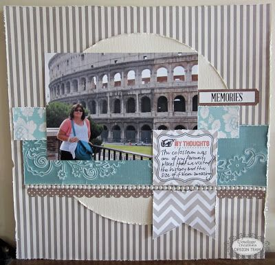 Couture Creations: Visiting the Colosseum by Kerrie Gurney | #couturecreationsaus #tutorial #embossing #decorativedies #latexmat #coredinationscardstock #scrapbooking #cardmaking #papercrafting