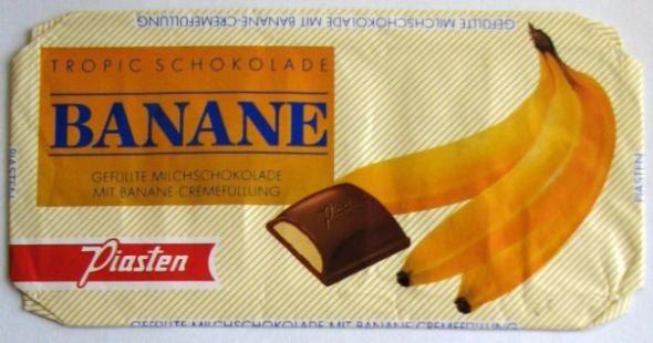"""Шоколад с банановой начинкой """"Piasten"""". Восстанови советское детство - http://samoe-vazhnoe.blogspot.ru/ #шоколад"""