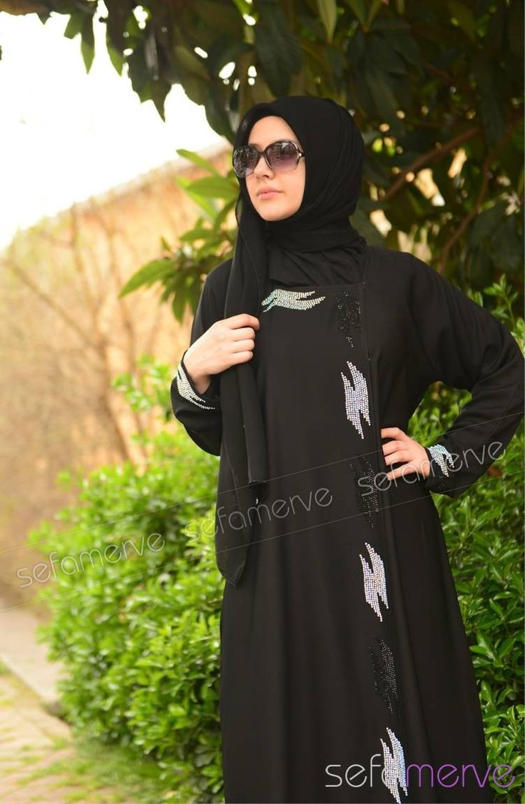 Minahill Abaya 8085-01 Black