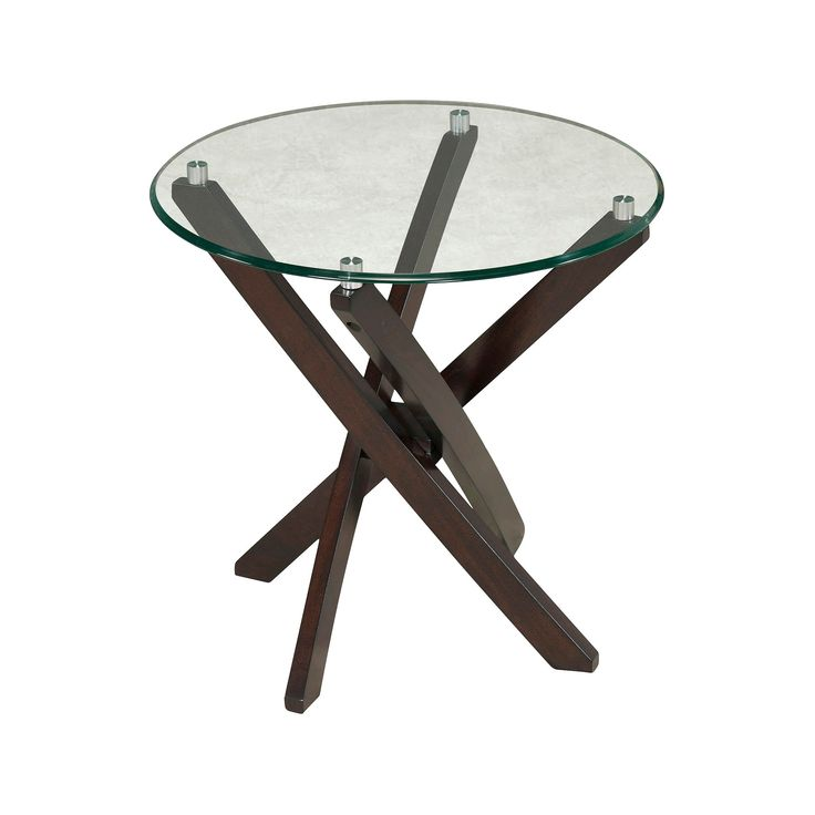 Xenia Round End Table Espresso - Magnussen Home, Brown