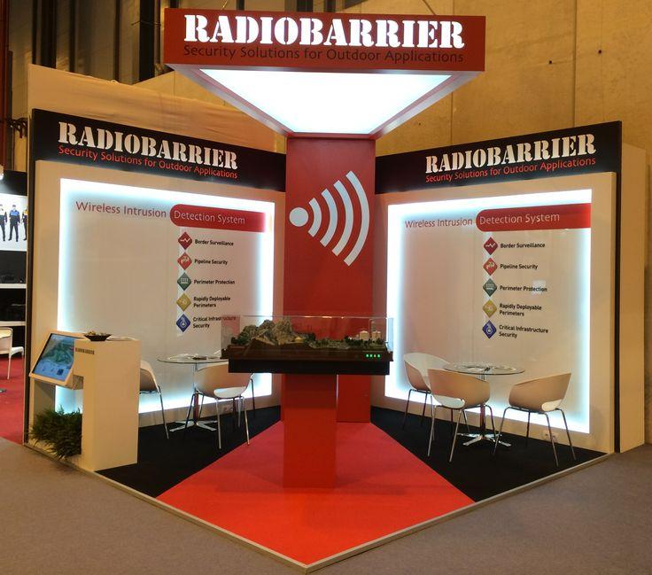 RADIOBARRIER stand at SICUR, IFEMA (Feria de Madrid), Spain