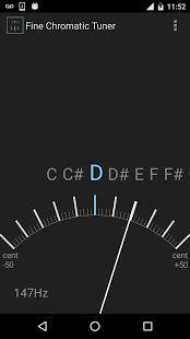 Fin guitare chromatique miniature tuner- capture d'écran