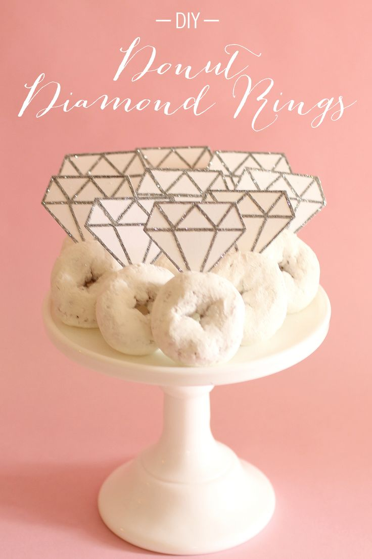 diamond rings for a breakfast bridal shower are cute and fun to create on a budget!
