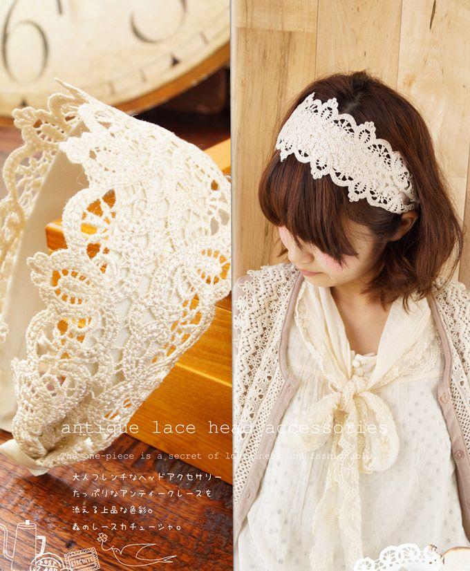 lace headband. so easy to diy!