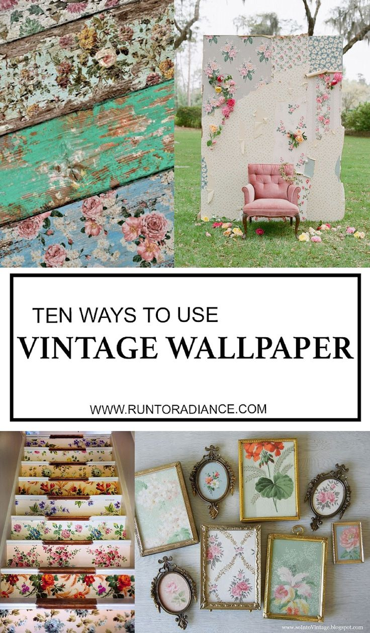 Love this smart round up of ten ways to use vintage wallpaper! Totally keeping my eyes open for some now...my favorite is number 6.