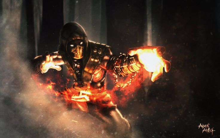 Scorpion - Mortal Kombat X | Get Over Here! by andrearoxa on deviantART
