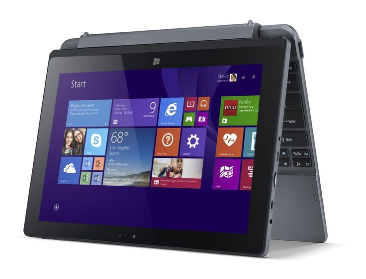 "Acer One 10 - Convertibile 2-in-1, Processore Intel Atom Z3735F, Ram 2GB, 32 GB eMMC, Display 10.1"" Multi-touch IPS, Scheda Grafica Intel HD Graphics, Webcam, Camera frontale, Wifi, Bluetooth 4.0, Slot Micro SD, Windows 10, Argento: Amazon.it: Informatica"